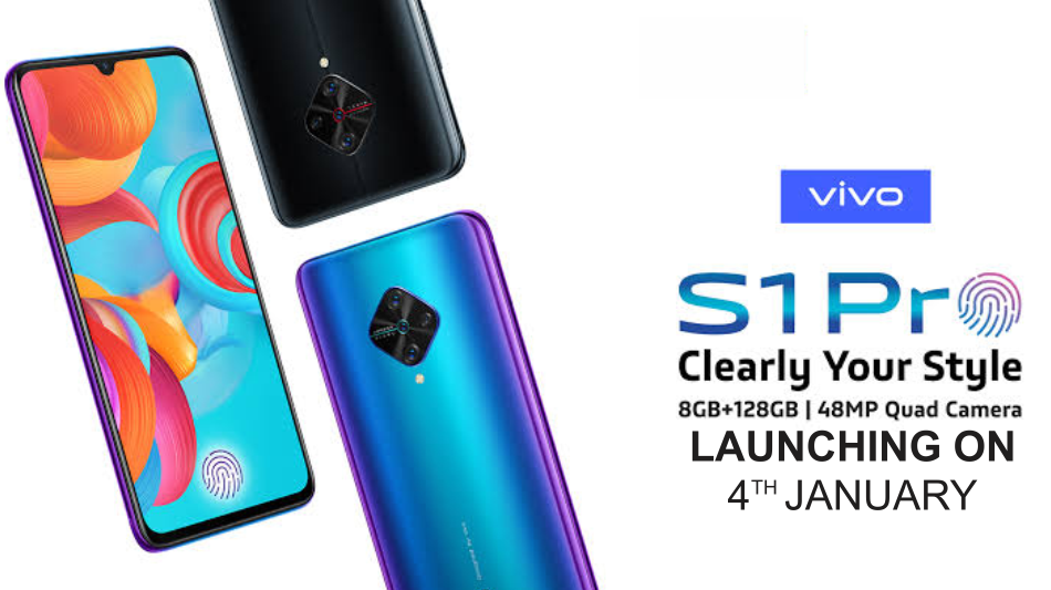 Vivo S1 Pro India launch phone for January 4